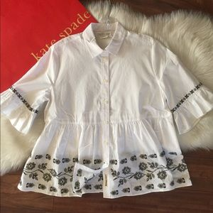 Kate Spade Embroidered Blouse